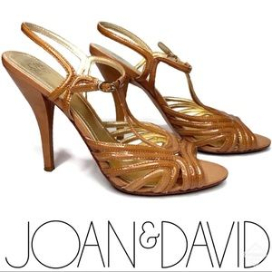 Joan & David Nude Mimo Ankle-Strap Sandal Sz 9.5